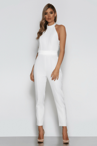 Tina Jumpsuit in White