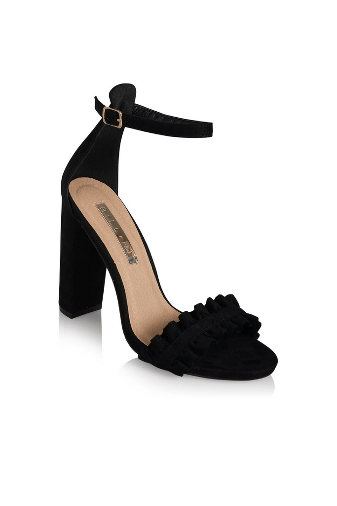 Minnie Black Suede