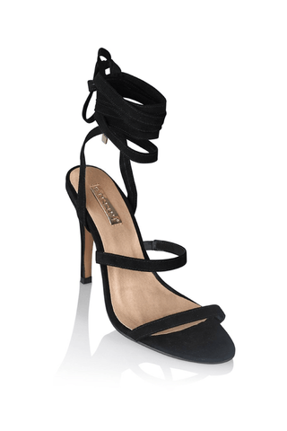 Carissa Black Suede - Billini Shoes