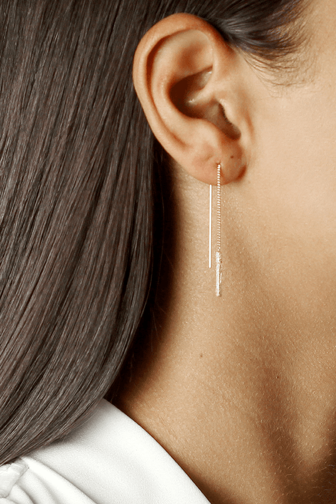 Izabel Threaded Earrings - Jolie & Deen