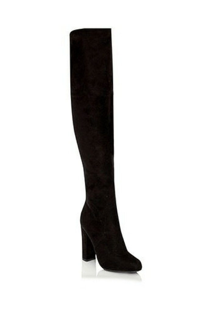 Lara Boots in Black Suede - Billini Shoes