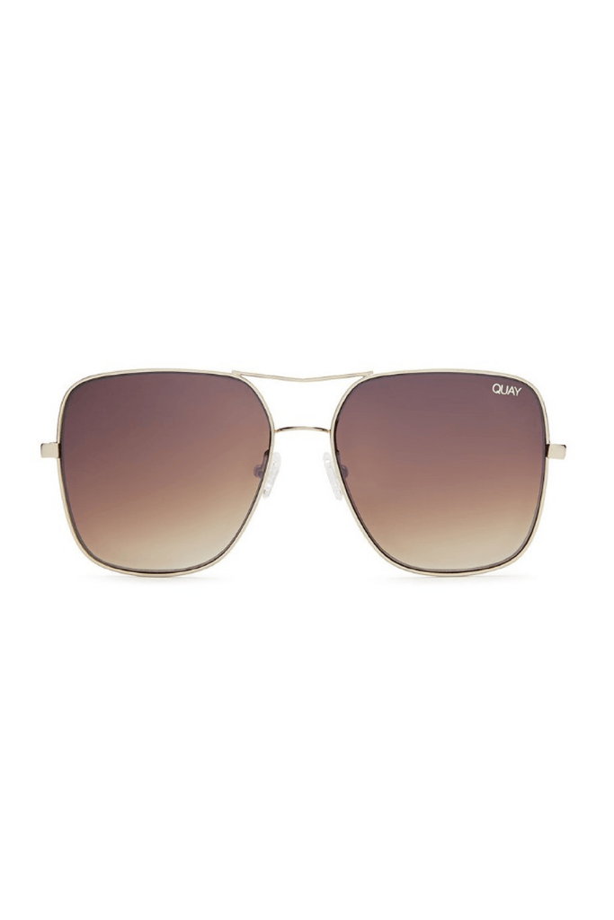 Stop and Stare Sunglasses in Gold/Brown