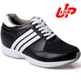 3.35 inch trendy microfiber sport height shoes #022H01