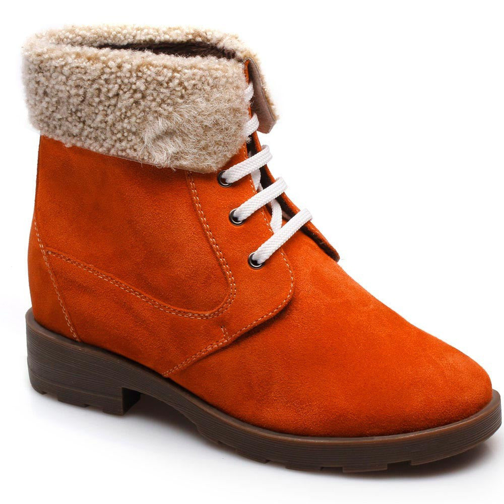Chamaripa Women Elevator shoes height increasing boots #W76A02-2