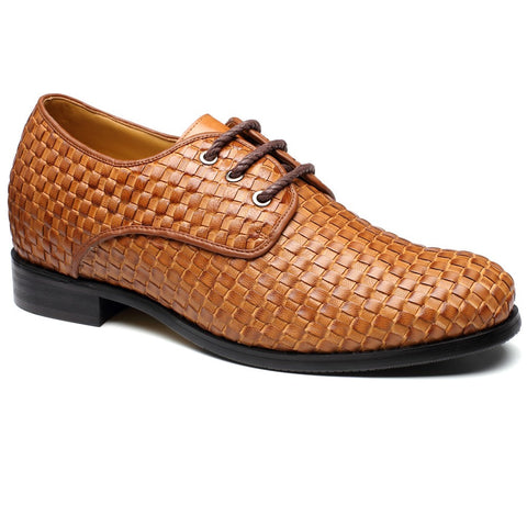 High Quality Fashion Noble Men BESPOKE Calfskin Leather Yellow Brown Work Tailor Made Dress Shoes #218A22-1