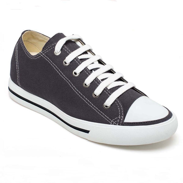 Classic Tall Men Shoes Casual Elevator Mens Shoes Canvas Solid Grey Look Taller Sport Elevator Shoes #H52C08K012D