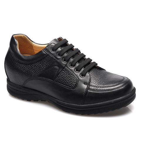 Black cow leather business casual height shoes #DX2802