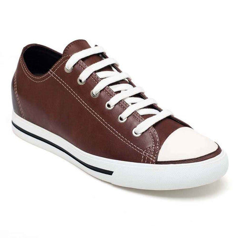 Wax Leather Loafer Board Shoes Elevator Athletic Shoes #H52C08K015D