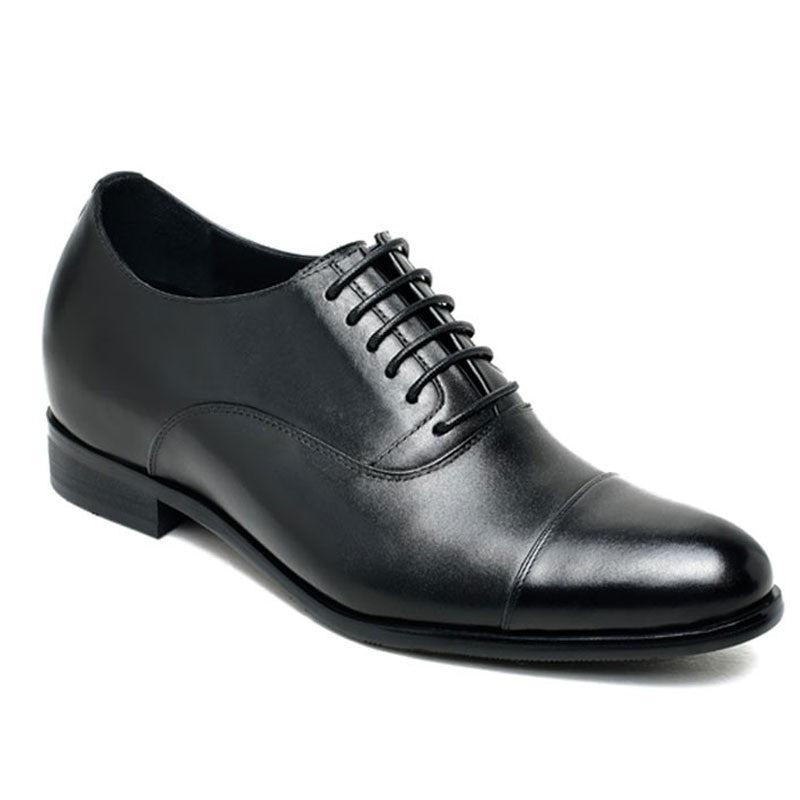 Mens Dress Wedding Oxfords Cow leather Elevator Shoes For Men #X92H38-1