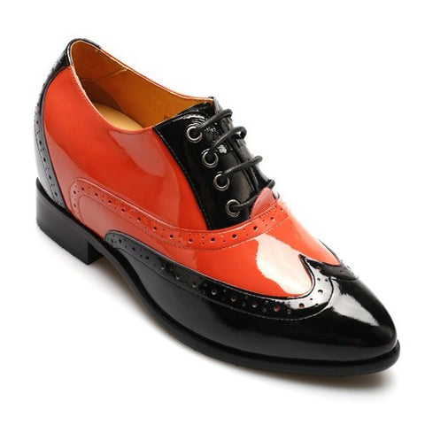Ladies stylish brogue style height increasing shoes 6.5 cm #W92K01-1