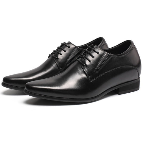Black Height Incrasing Elevator Shoes Occident Dress Shoes #H62D11K011D