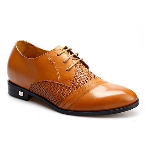 Superior Genuine Leather Designer Dress BESPOKE Elevator Shoes For Short Man #JX70H99-1