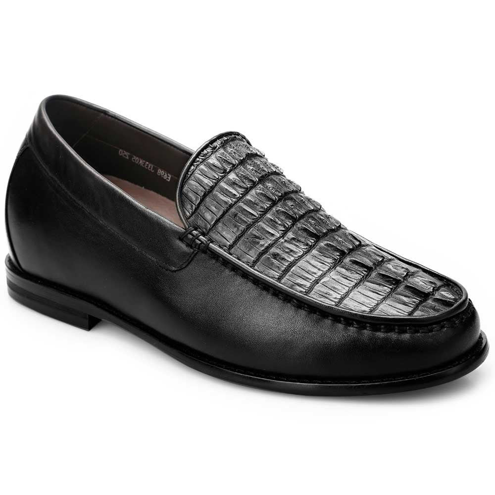 Crocodile Handmade Business Casual Custom Chamaripa Elevator Shoes #J333K05