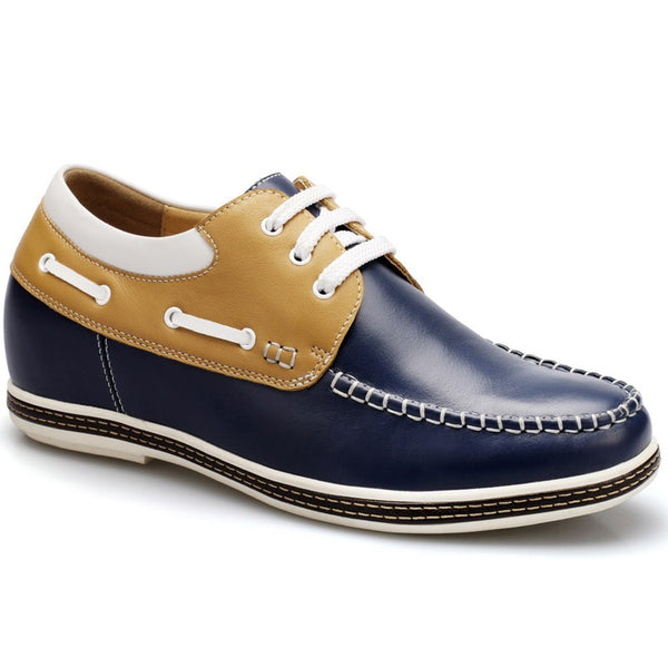 Korean Style Men Increasing Height 6.5cm/2.56inch Board Lace-up Casual Men Taller Shoes #D230C08