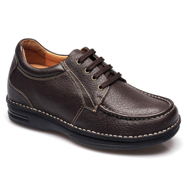 2.95 inch brown casual increasing height men shoes #T73H03