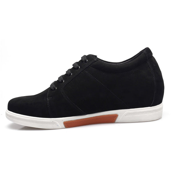 shoe lifts elevator mens shoes first layer suede leather casual shoes #K70M83-1