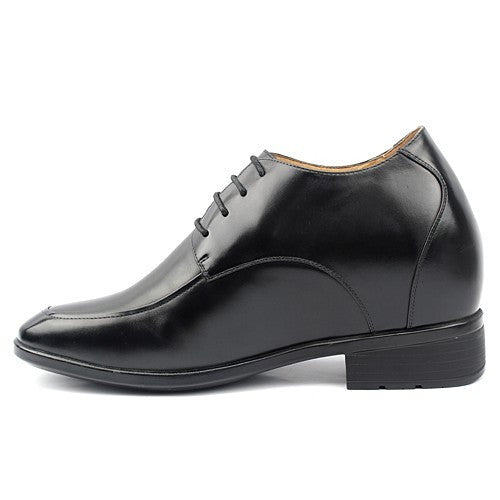4.13 inch dress black calfskin leather tall shoes #X71H02