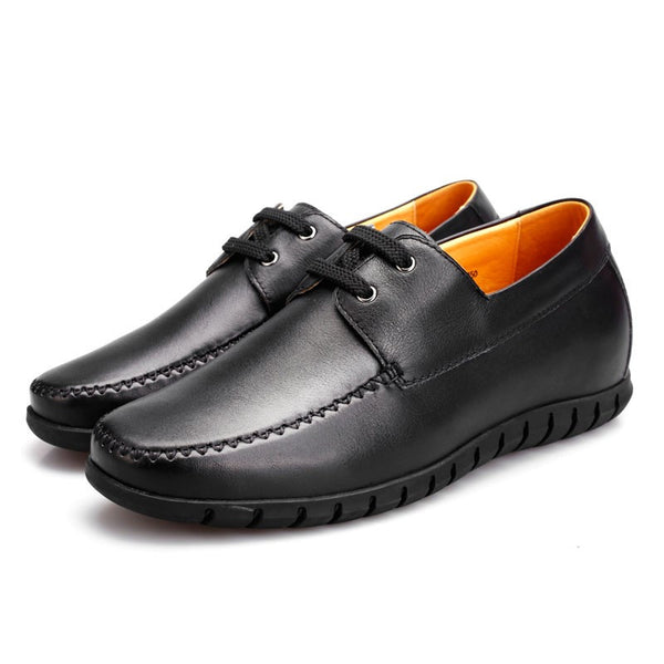 Comfortable soft leather casual elevating shoes to make men taller #333K09