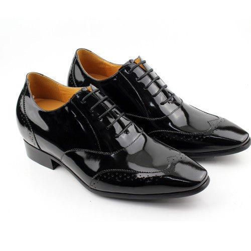 Patent leather elevated shoes for men #K4001