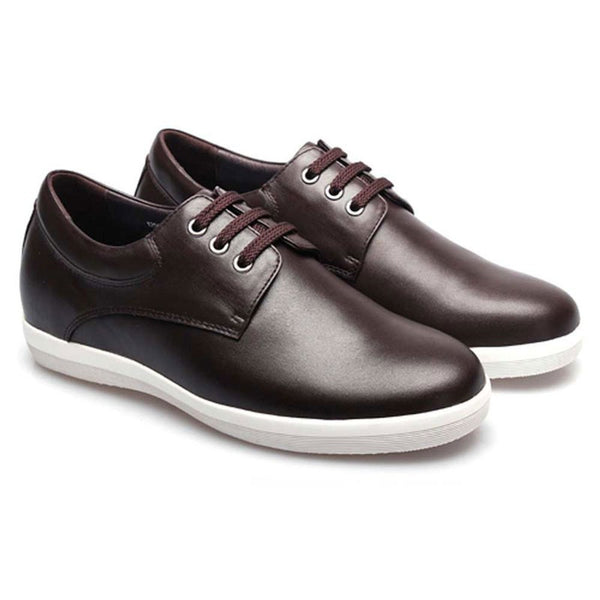 Soft Cow Leather Increasing Height Men Look Taller Shoes #X8002-1