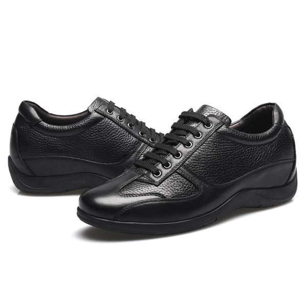 Black cowhide leather business casual taller shoes #DG9103