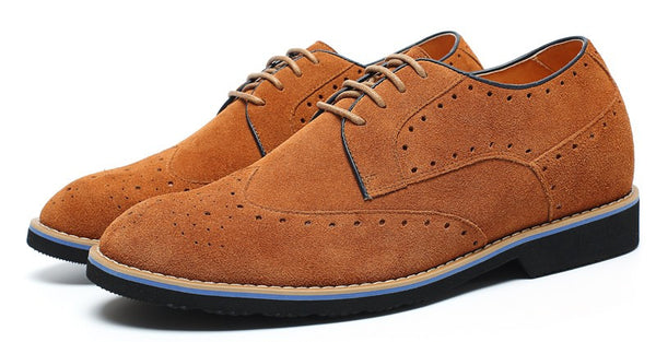 Stylish Brogue Increase Height Casual Elevator Shoes #L61C20K012D