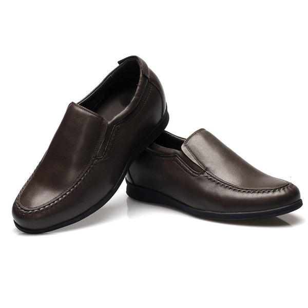 slip-on casual increasing height men cow leather shoes #010H01