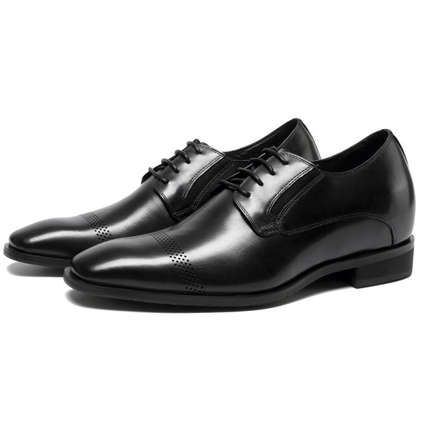 Men Dress Oxford Height Increasing Shoes Taller Shoes #K65K03