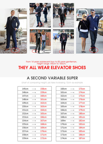 Custom Made Chamaripa Elevator Height Increasing Shoes For Short Men #X70H03