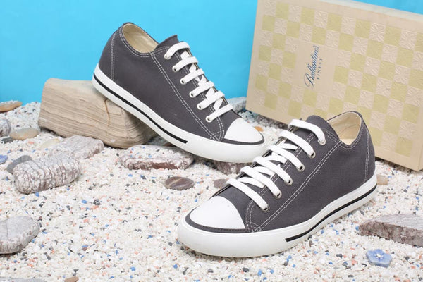 Classic Tall Men Casual Elevator Mens Shoes Canvas Solid Grey Elevator Shoes #H52C08K012D