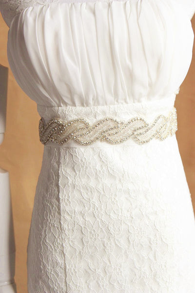 Rhinestone Wedding Sashes with Ribbon Cheap Women Accessories Bridal Belts BEL1220