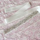 Crystals Rhinestone Ivory Wedding Sashes with Ribbon Women Accessories Bridal Belt BEL1221