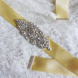 Hand Made Crystals Rhinestones Wedding Sashes with Ribbon Women Accessories Belt BEL1222