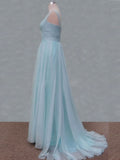 Mint tulle bridesmaid dresses, Spaghetti bridesmaid dresses, Knee length #BN0009