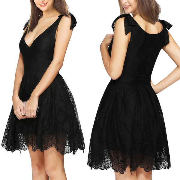 Discount ! Black Lace V Neck Cheap Short Prom Dresses Formal Homecoming Dress F1181