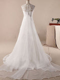 Tiered Tulle Mermaid Wedding Dress with Lace  #HS0052