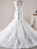 Tiered Tulle Mermaid Wedding Dress with Lace  #HS0053