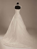 Tiered Tulle Mermaid Wedding Dress with Lace  #HS0054