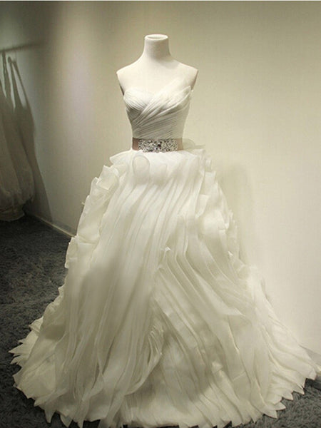 Real Picture 2016 Sexy Ball Gown Beading Sash Organza Bandage Dress#HS0067
