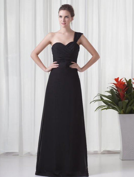 Sweetheart Chiffon Floor Length Bridesmaid Dress #B052