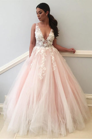 Fashion Princess Pink Tulle Off the Shoulder Prom Dresses Evening Gown Party Dress LD1004