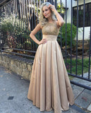 Fashion High Neck Empire Waist Long Prom Dresses Evening Formal Woman Dress LD1046