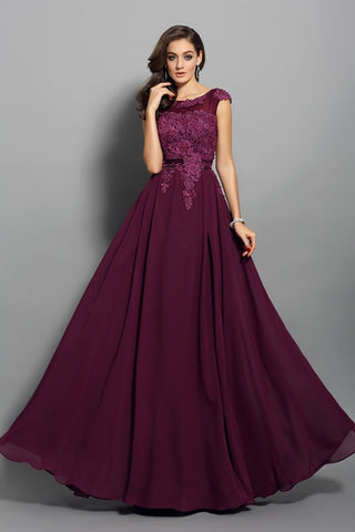 Charming Cap Sleeves Burgundy Lace Appliques Cheap Prom Dresses Evening Party Dress LD1077