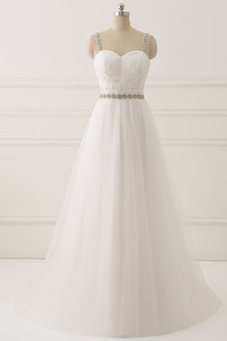126cf5b3d953 Real Picture Lace Empire Waist Beach Wedding Dresses Bridal Dress Gown –  Laurafashionshop