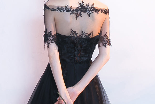 New Arrival 2 Pieces Black Front Short Long Back Homecoming Dresses Graduation Prom Dress LD1262