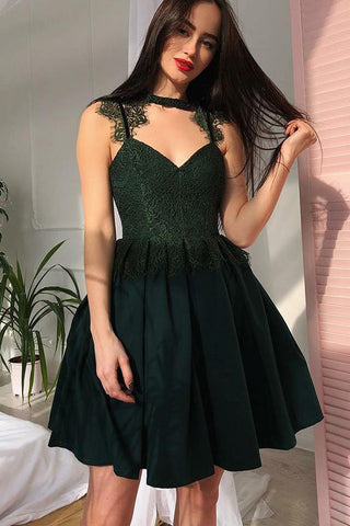 c0063a2e7f6 A Line Black Lace Cheap Short Prom Dresses Homecoming Dress For Party –  Laurafashionshop