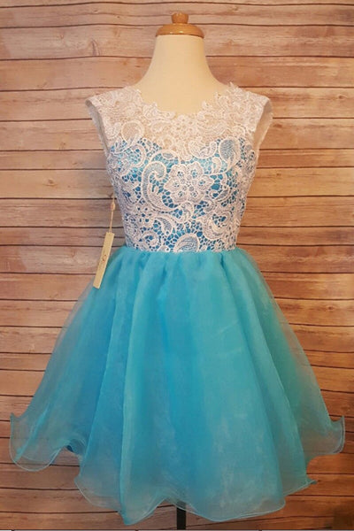 Charming White Lace Mini Length Cheap Prom Homecoming Dresses For Party Graduation Dress LD1378