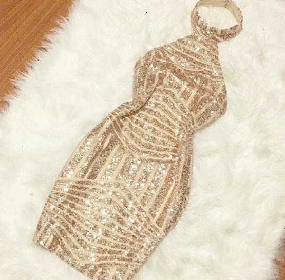 Sexy Rose Gold Sequin Sheath Backless Homecoming Dresses Short Prom Graduation Dress Party LD1450