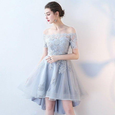 ... Sexy Short Sleeves Lace Appliques Homecoming Dresses Light Blue High  Low Prom Hoco Dress LD1458 ... 57e8a64ea