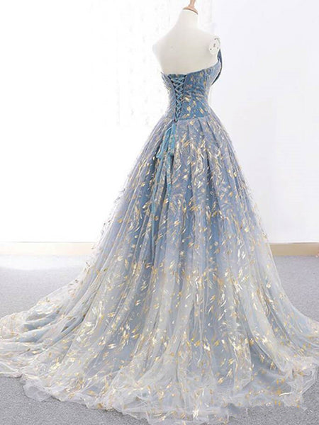 New 2020 Gold Lace  Ball Gown Long Wedding Prom Dresses Quinceanera Formal Dress LD1729